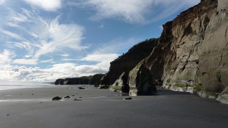 No hay nada edificado en la 3 Sisters Beach