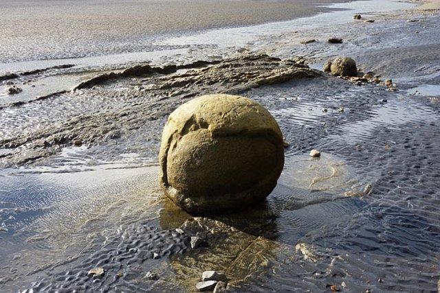 Piedra circular en Nueva Zelanda