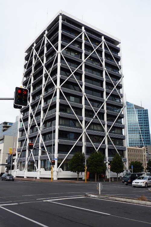 Edificio cuadrado Auckland, Nueva Zelanda