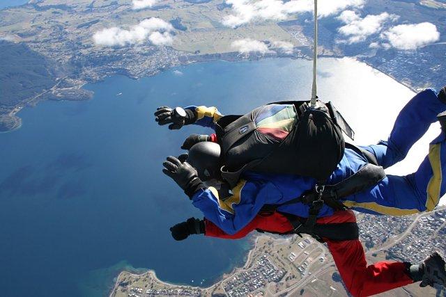 Lago Taupo desde las alturas
