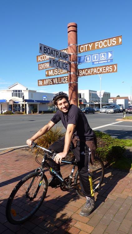 En bicicleta en Rotorua