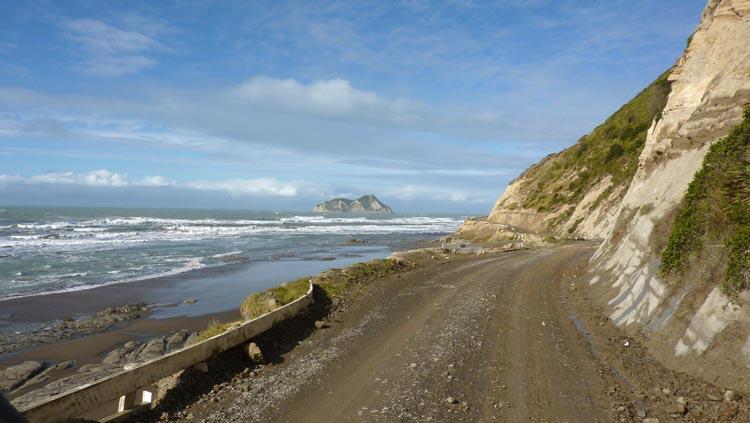 Carretera sin asfaltar Nueva Zelanda