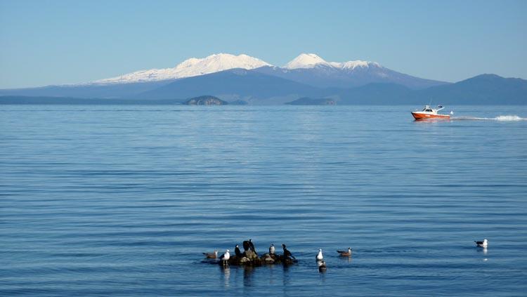 Imagen idílica tomada desde la localidad de Taupo