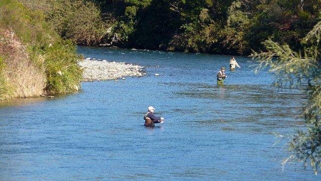 Pescando en el río Tongariro