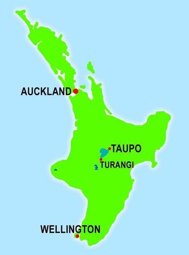 Mapa de Turangi
