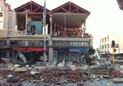 Edificio derrumbado en Chistchurch