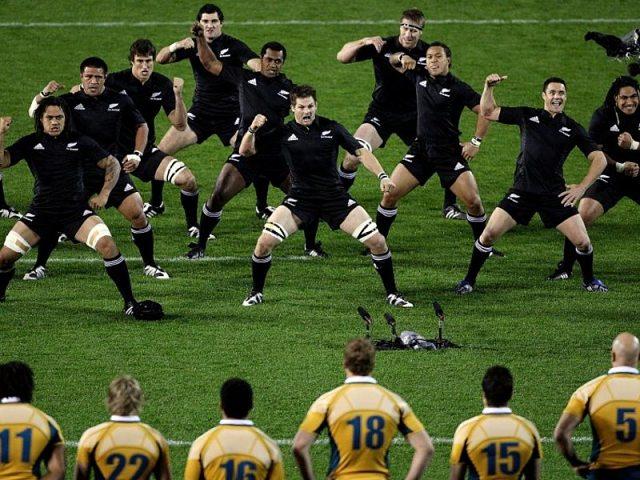 Haka del equipo de rugby All Blacks de Nueva Zelanda