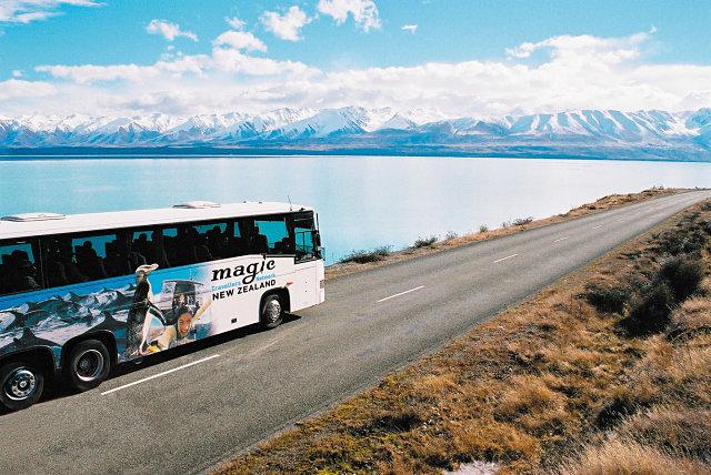 Magic bus, compañía de autobús de Nueva Zelanda