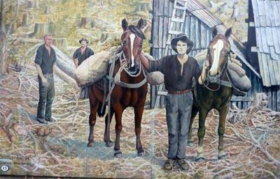 En este mural está representada la vida del campo