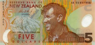 Billete de cinco dólares de Nueva Zelanda