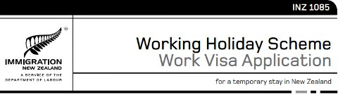 Formulario de la Working Holiday Visa