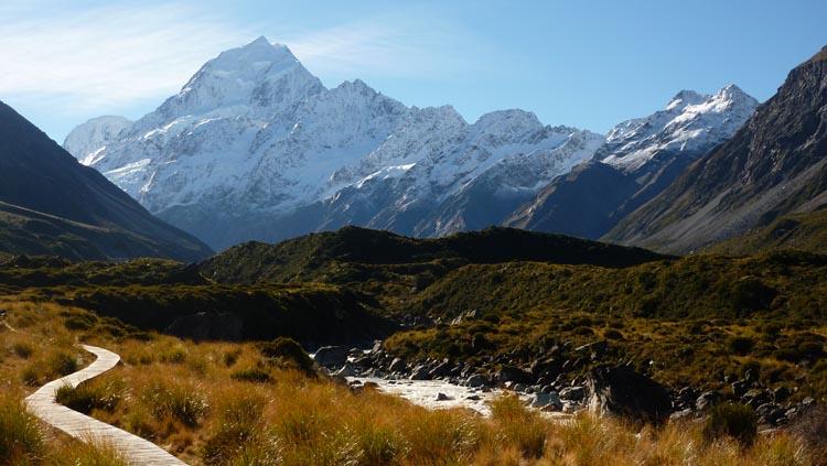 Imagen del Monte Cook, la cima más alta de Nueva Zelanda