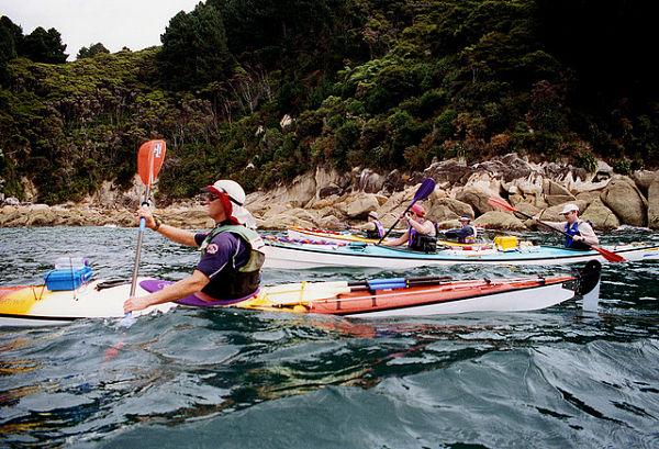 Haciendo kayak en Nueva Zelanda