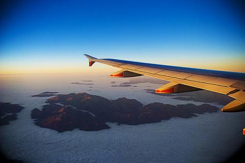 Paisaje de Nueva Zelanda desde un avión