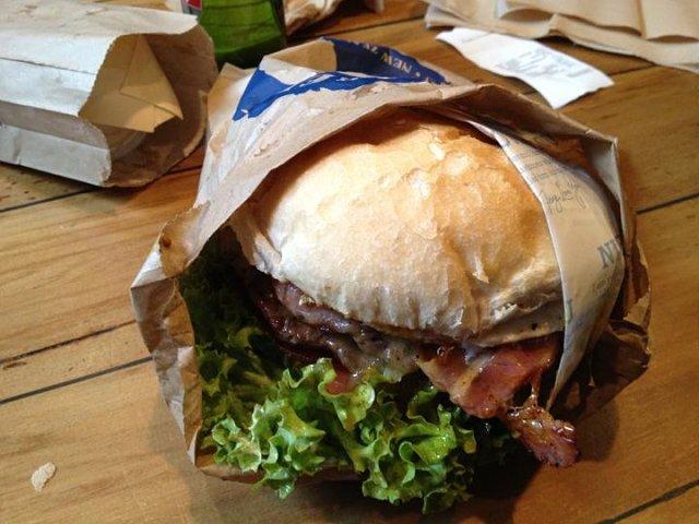 Apetitosa hamburguesa en Queenstown