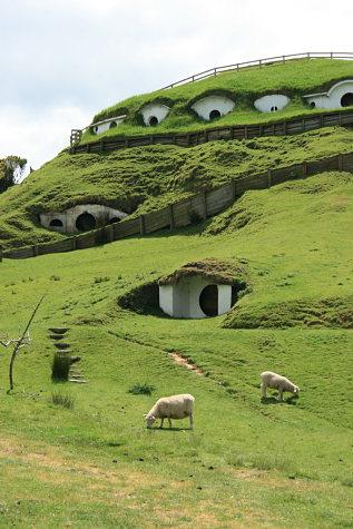 Colina de Hobbiton en Matamata sin el decorado