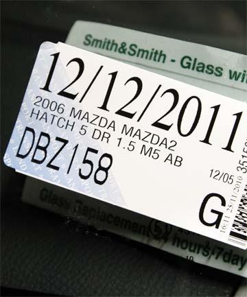 Fotografía de la etiqueta del licensing de Nueva Zelanda, del permiso de conducir